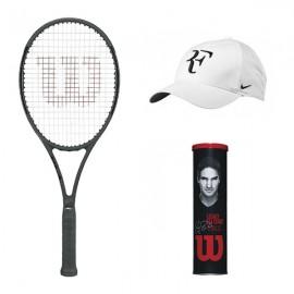 Raquete de Tênis Wilson Pro Staff RF 97 Autograph +Boné Roger Federer + Tubo de Bola RF Legacy