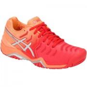 Tênis Asics Gel Resolution 7 - Vermelho e Laranja