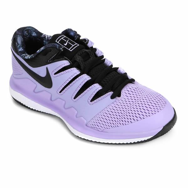 Tênis Nike Air Zoom Vapor X Hc Feminino Lilás Oficina Do