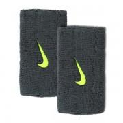 Munhequeira Nike Swoosh Grande Cinza e Limao- 2Und