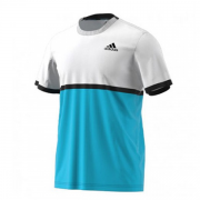 Camiseta Adidas Court - Azul e Branca