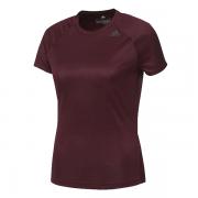 Camiseta Adidas Feminina D2M Loose - Vinho