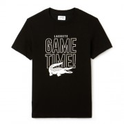 Camiseta Lacoste Sport Game Time - Preta