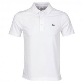 Camisa Polo Lacoste Slim Fit - Branca