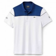 Camisa Polo Lacoste Novak Djokovic - Marinho e Branco 68f4cf59c0dad