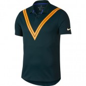 Camisa Polo Nike RF Advantage - Verde e Laranja