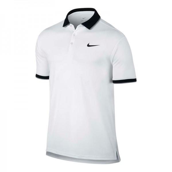 Camisa Polo Nike Court - Branco e Preto - Oficina do Tenista 0e0ccf3c9ef2b