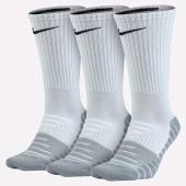 Pack Meia Nike Cano Alto Branca e Cinza - 3Und