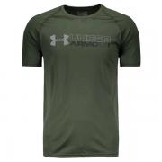 Camiseta Under Armour Wordmark  - Verde Musgo